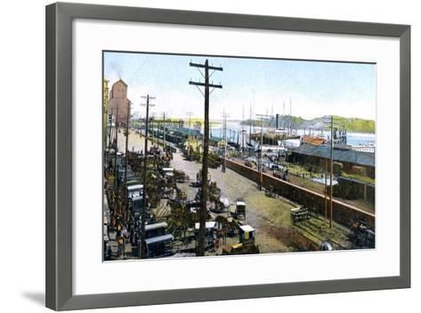 Montreal Harbour, Montreal, Canada, C1900s--Framed Art Print