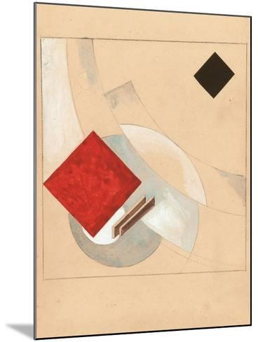 Study (For the Story of Two Quadrat), C. 1920-El Lissitzky-Mounted Giclee Print