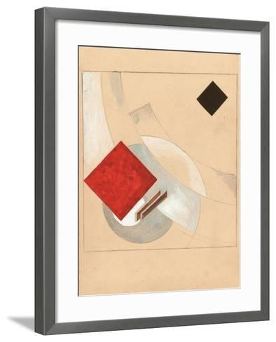 Study (For the Story of Two Quadrat), C. 1920-El Lissitzky-Framed Art Print
