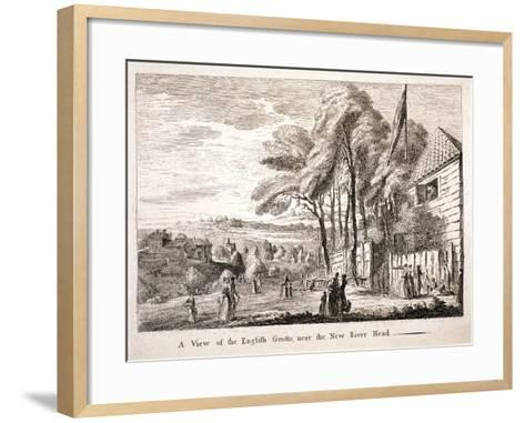 The English Grotto, New River Head, Finsbury, London, C1790--Framed Art Print