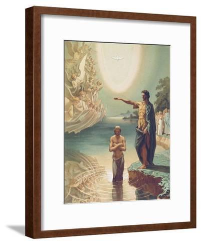 The Baptism of Christ-Grigori Grigorievich Gagarin-Framed Art Print