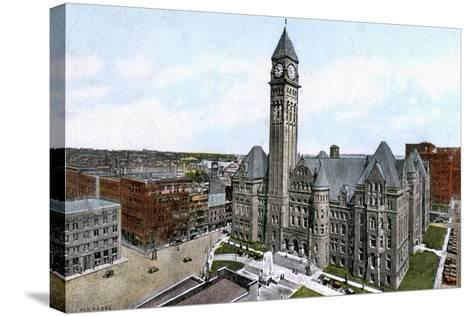 City Hall, Toronto, Canada, C1900s--Stretched Canvas Print
