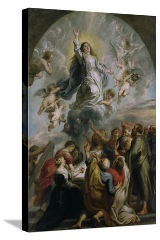 The Assumption of the Virgin-Peter Paul Rubens-Stretched Canvas Print