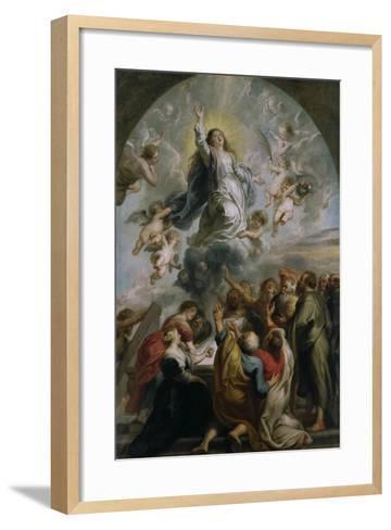 The Assumption of the Virgin-Peter Paul Rubens-Framed Art Print