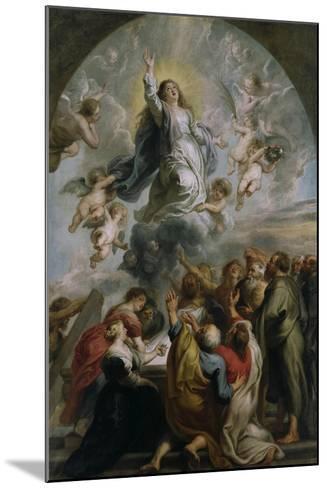 The Assumption of the Virgin-Peter Paul Rubens-Mounted Giclee Print