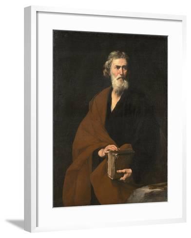 Saint Matthew the Evangelist-Jos? de Ribera-Framed Art Print