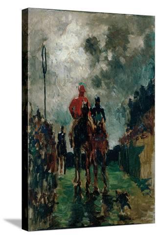 The Jockeys, 1882-Henri de Toulouse-Lautrec-Stretched Canvas Print