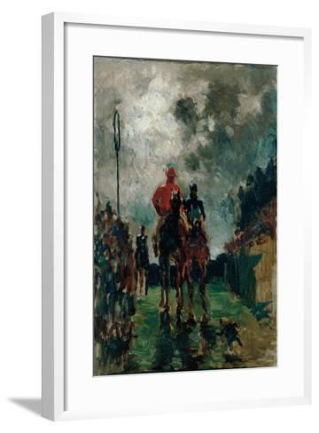 The Jockeys, 1882-Henri de Toulouse-Lautrec-Framed Art Print