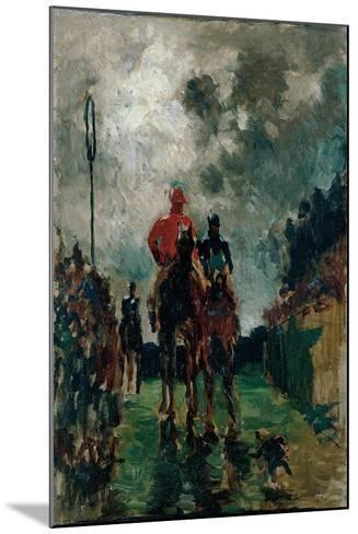 The Jockeys, 1882-Henri de Toulouse-Lautrec-Mounted Giclee Print