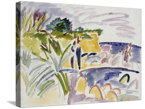 Beach at Fehmarn, 1913-Ernst Ludwig Kirchner-Stretched Canvas Print
