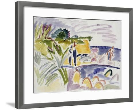 Beach at Fehmarn, 1913-Ernst Ludwig Kirchner-Framed Art Print