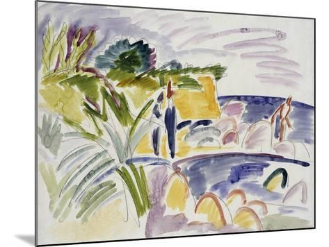Beach at Fehmarn, 1913-Ernst Ludwig Kirchner-Mounted Giclee Print
