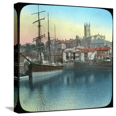 The Harbour, Penzance, Cornwall, Late 19th or Early 20th Century--Stretched Canvas Print