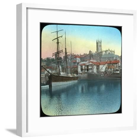 The Harbour, Penzance, Cornwall, Late 19th or Early 20th Century--Framed Art Print