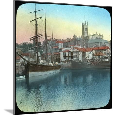 The Harbour, Penzance, Cornwall, Late 19th or Early 20th Century--Mounted Giclee Print