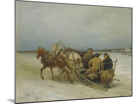 Troika in Winter, 1880S-Pyotr Petrovich Sokolov-Mounted Giclee Print