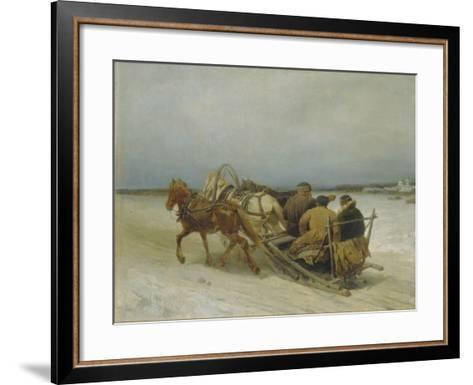 Troika in Winter, 1880S-Pyotr Petrovich Sokolov-Framed Art Print