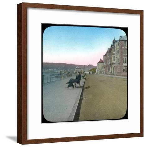 Esplanade, Penzance, Cornwall, Late 19th or Early 20th Century--Framed Art Print