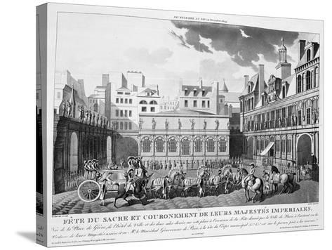 The Festivities of the Coronation, Paris, 2nd December 1804, 19th Century--Stretched Canvas Print