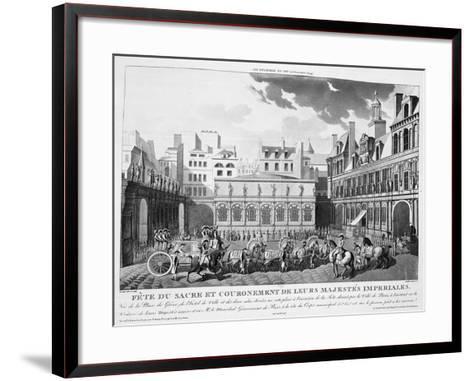 The Festivities of the Coronation, Paris, 2nd December 1804, 19th Century--Framed Art Print