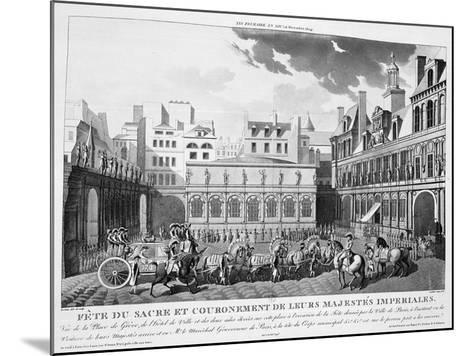 The Festivities of the Coronation, Paris, 2nd December 1804, 19th Century--Mounted Giclee Print