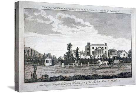 Gregory Bateman's Residence on Green Street in Kentish Town, London, 1792--Stretched Canvas Print