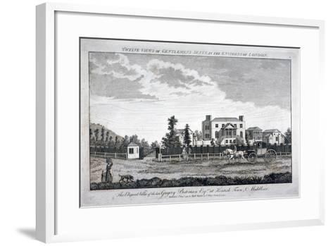 Gregory Bateman's Residence on Green Street in Kentish Town, London, 1792--Framed Art Print