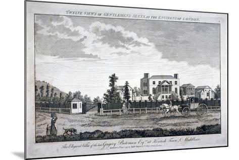Gregory Bateman's Residence on Green Street in Kentish Town, London, 1792--Mounted Giclee Print