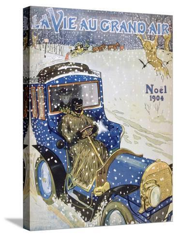 Cover for the Christmas Issue of the Magazine La Vie Au Grand Air, 1904--Stretched Canvas Print