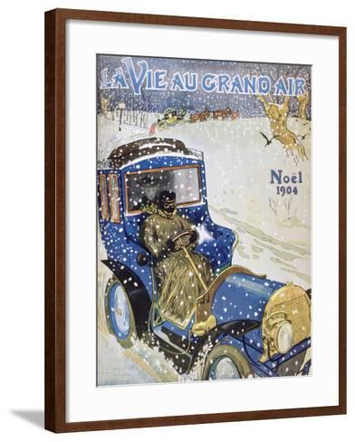 Cover for the Christmas Issue of the Magazine La Vie Au Grand Air, 1904--Framed Art Print