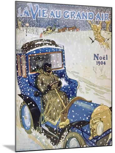 Cover for the Christmas Issue of the Magazine La Vie Au Grand Air, 1904--Mounted Giclee Print