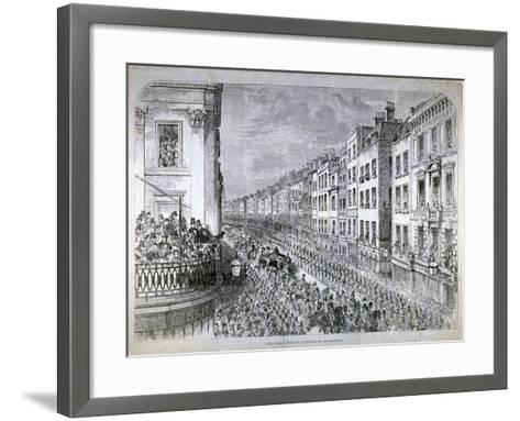 Fleet Street - the Civic Authorities in the Procession, City of London, C1850--Framed Art Print