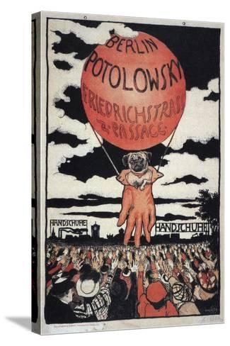 Poster for the Potolowsky Glove Manufacturer, 1897-Emil Orlik-Stretched Canvas Print