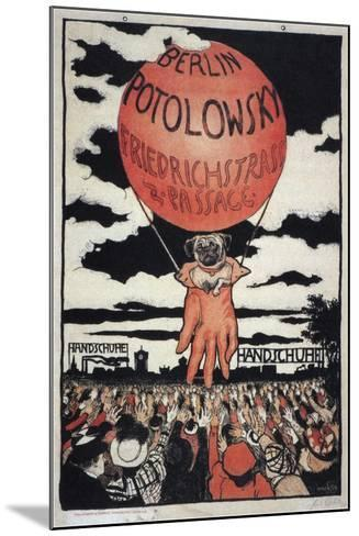 Poster for the Potolowsky Glove Manufacturer, 1897-Emil Orlik-Mounted Giclee Print