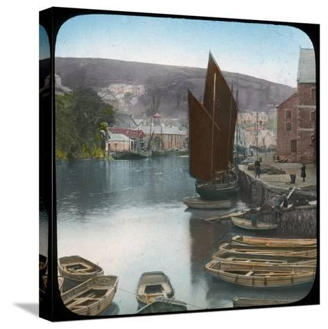 Looe, from the Quay, Cornwall, Late 19th or Early 20th Century--Stretched Canvas Print