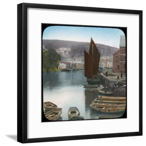 Looe, from the Quay, Cornwall, Late 19th or Early 20th Century--Framed Art Print