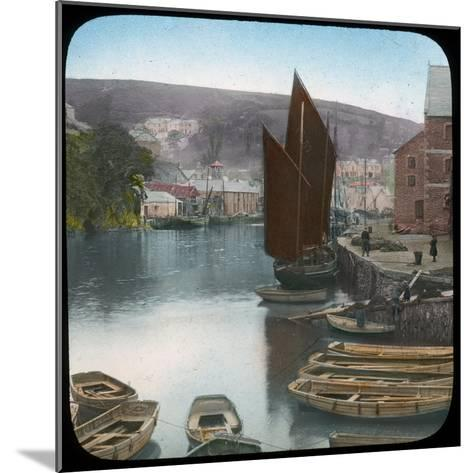 Looe, from the Quay, Cornwall, Late 19th or Early 20th Century--Mounted Giclee Print