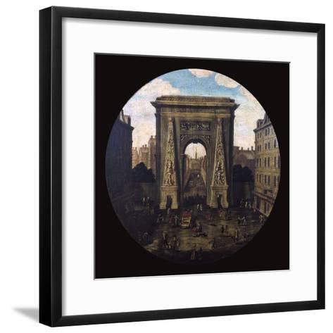 The Saint-Denis Gate, Paris, 17th Century--Framed Art Print