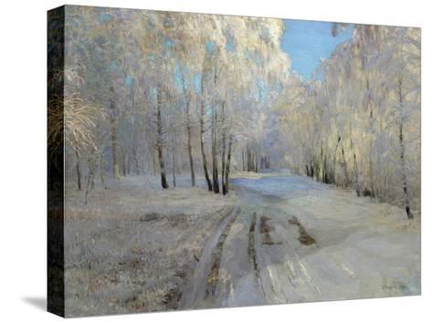 Hoarfrost, 1900-Vasili Nikolayevich Baksheev-Stretched Canvas Print