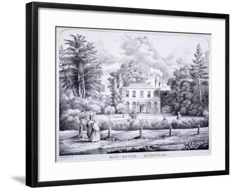 Elm Grove, Lewisham, London, C1840--Framed Art Print