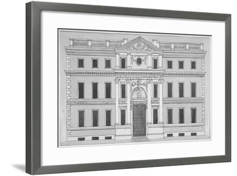 Front Elevation of the Drapers' Hall, Throgmorton Street, City of London, 1850--Framed Art Print
