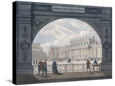 Bank of England, Threadneedle Street, London, C1820--Stretched Canvas Print