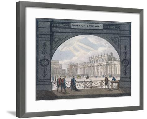 Bank of England, Threadneedle Street, London, C1820--Framed Art Print