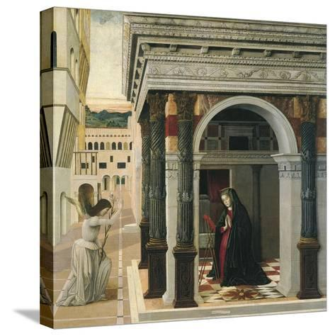 The Annunciation-Gentile Bellini-Stretched Canvas Print