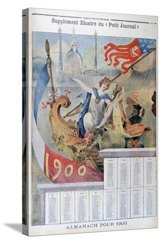 Calendar for 1900--Stretched Canvas Print