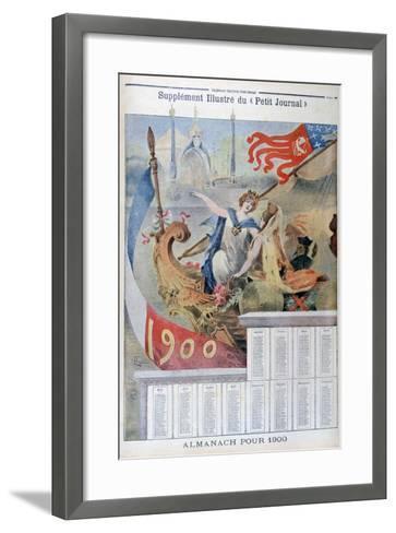 Calendar for 1900--Framed Art Print