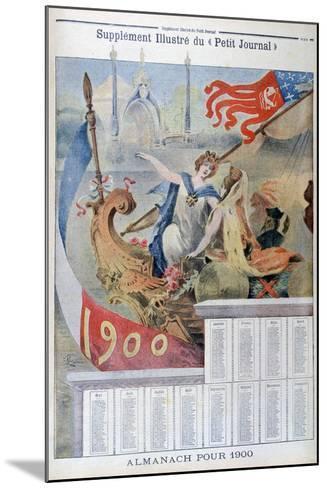 Calendar for 1900--Mounted Giclee Print