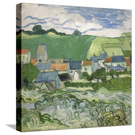 View of Auvers, 1890-Vincent van Gogh-Stretched Canvas Print