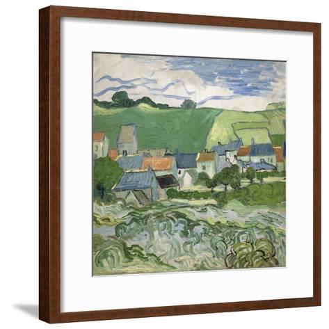 View of Auvers, 1890-Vincent van Gogh-Framed Art Print