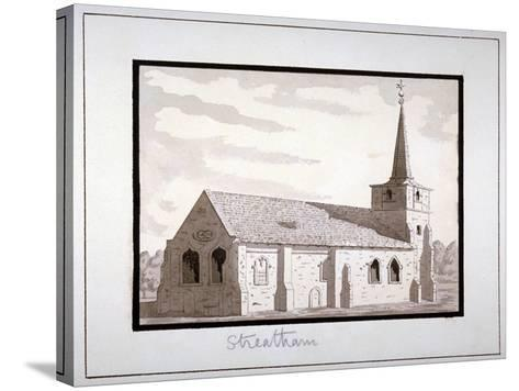 North-East View of the Church of St Leonard, Streatham, Lambeth, London, C1800--Stretched Canvas Print